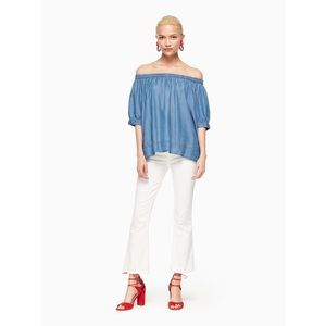 Kate Spade x Broome Street | Chambray Off Shoulder